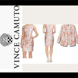 2 PC Vince Camuto Sequin WildflowerJacket & Dress